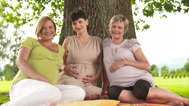 HD DOLLY: Portrait Of Three Pregnant Women