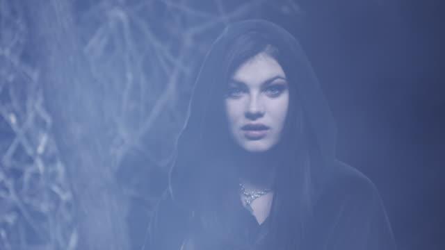 ms portrait of vampire at night / cedar hills, utah, usa - vampire stock videos and b-roll footage