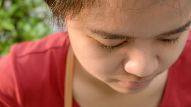 Portrait of woman face