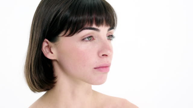 portrait of woman - bangs stock videos & royalty-free footage