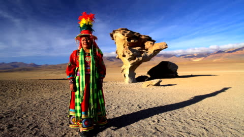 portrait of women in traditional national headdress bolivia - headdress stock videos & royalty-free footage