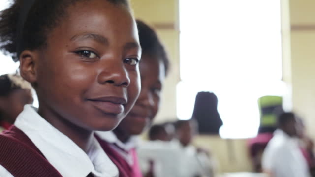 portrait of young african school girl - only girls stock videos and b-roll footage