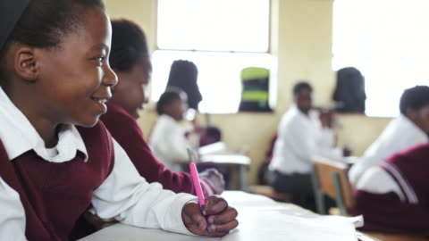 portrait of young african school girl - africa stock videos & royalty-free footage