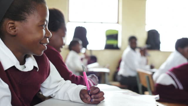 portrait of young african school girl - school building stock videos & royalty-free footage