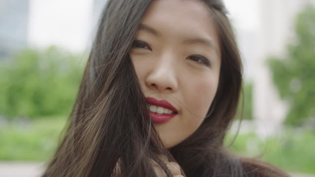 portrait of young asian woman - flirting stock videos and b-roll footage