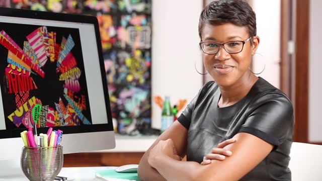 Portrait of young, confident designer
