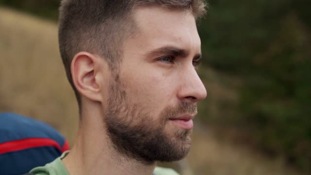 portrait of young hiker - sportswear stock videos & royalty-free footage