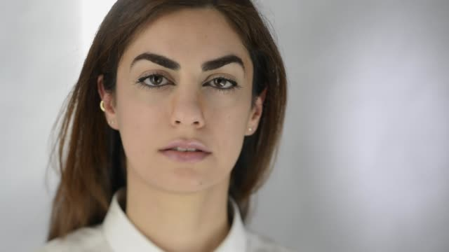portrait of young modern arab woman. - middle eastern ethnicity stock videos & royalty-free footage
