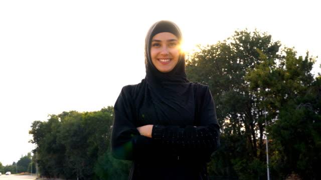 portrait of young muslim women in hijab - saudi arabia stock videos & royalty-free footage