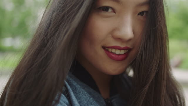 portrait of young w asian woman - human face photos stock videos & royalty-free footage