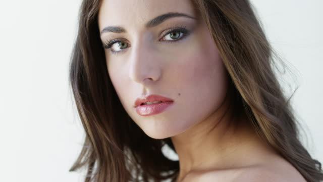 cu tu portrait of young woman / orem, utah, usa - lebanese ethnicity stock videos and b-roll footage