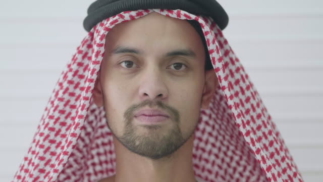 portrait  : saudi man - young adult stock videos & royalty-free footage