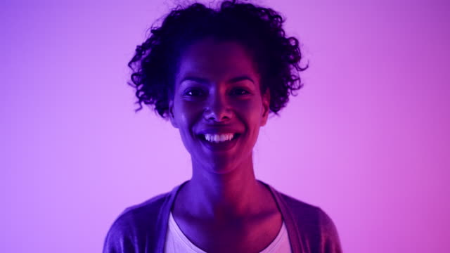 portrait - neon colored stock videos & royalty-free footage