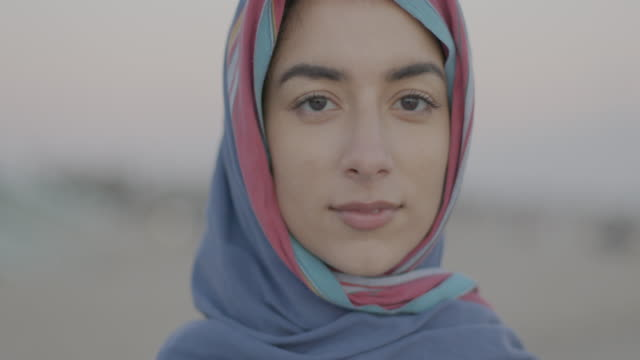 portraits of muslim men and women - confidence stock videos & royalty-free footage