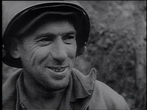 montage portraits of us army soldiers both combat soldiers and support personnel - frank capra video stock e b–roll
