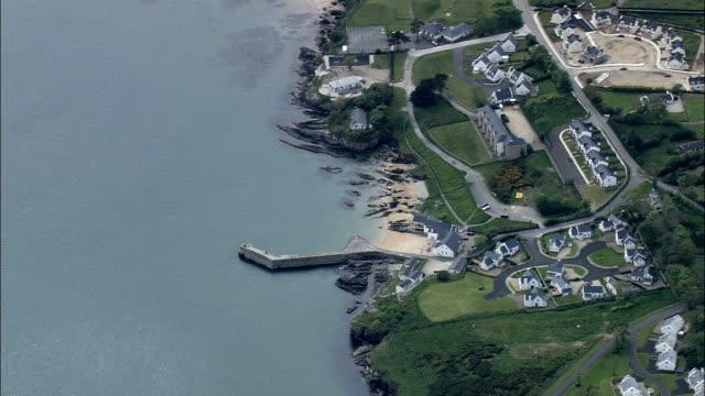 portsalonの とビーチ航空写真-アルスター、ドニゴール、アイルランド - アルスター州点の映像素材/bロール