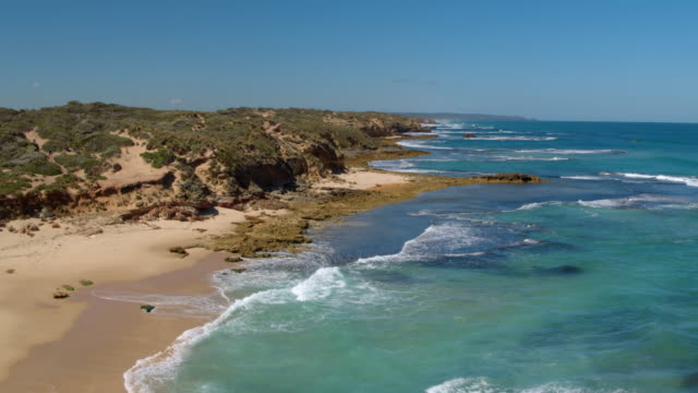 portsea back beach, mornington peninsula, victoria - coastline stock videos & royalty-free footage