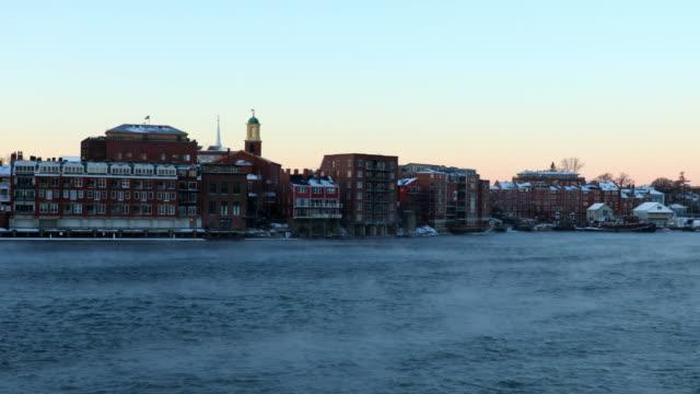 Portsmouth, New Hampshire in Arctic Sea Smoke