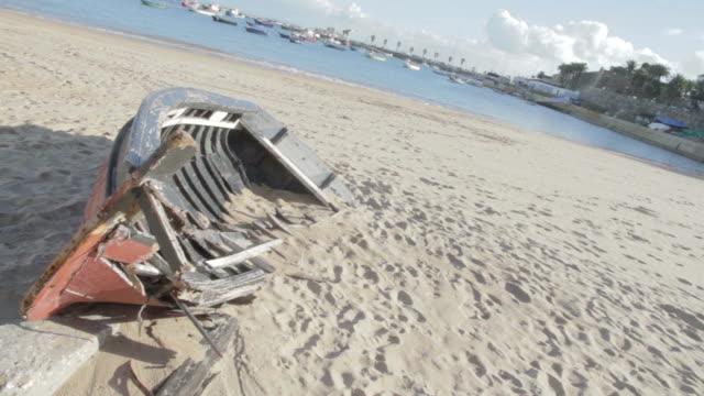 portugal cascais sea boat - cascais stock videos and b-roll footage