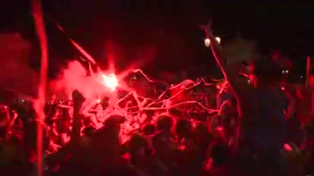 portugal fans in lisbon celebrate after an extra time goal by eder sees portugal beat hosts france 10 in sundays euro 2016 final to win their first... - euro 2016 stock videos and b-roll footage