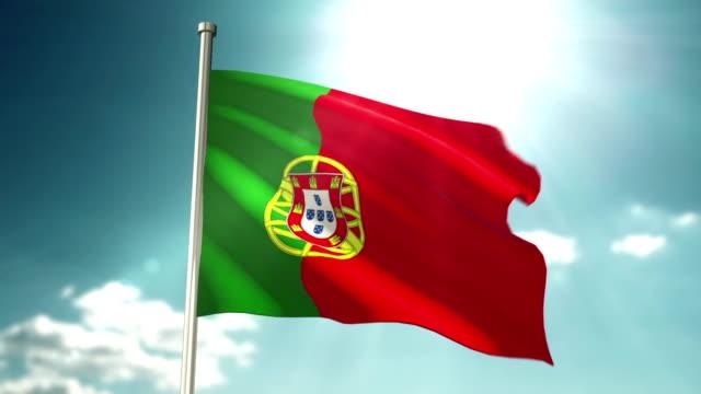 4K Portugal Flag