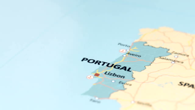 Europe Portugal On World Map Stock Footage Video Getty Images