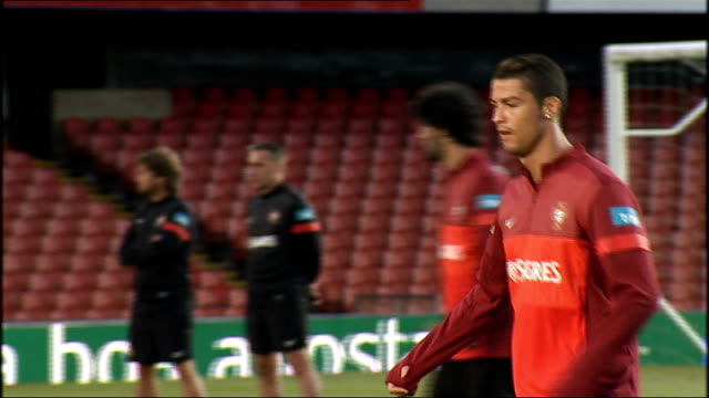 Portugal Training Session In Belfast Northern Ireland Belfast Ext Various Of Portugese Players Including Cristiano Ronaldo