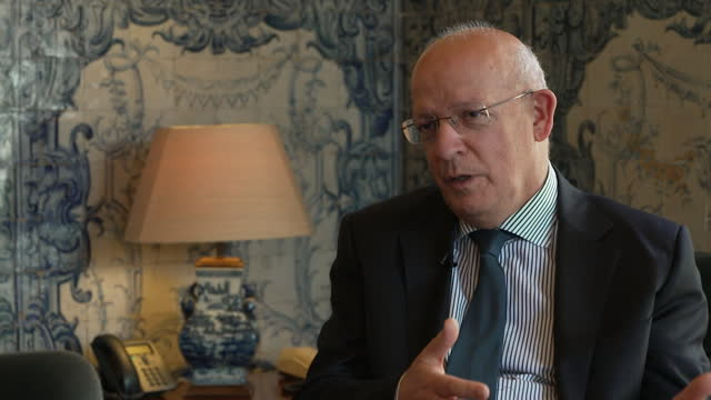 portugal's foreign minister augusto santos silva saying he doesn't understand the uk government's decision to move portugal from the coronavirus... - decisions stock videos & royalty-free footage