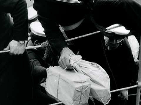 portugese sailors return to their ship which is moored on the thames with various gifts - 1899 stock videos & royalty-free footage