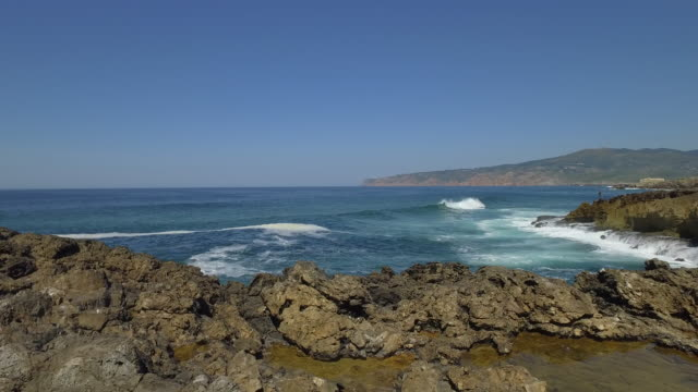 portuguese coast in cascais - cascais stock videos and b-roll footage