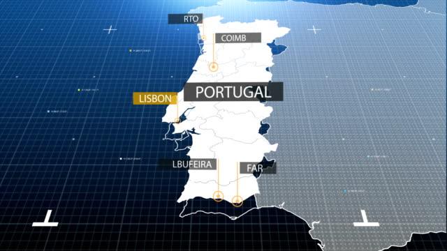 vídeos y material grabado en eventos de stock de mapa portugués con etiqueta con etiqueta - portugal