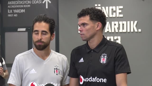 Portuguese soccer player Pepe of Besiktas holds a press conference after UEFA Europa League playoff second leg match between Partizan and Besiktas at...