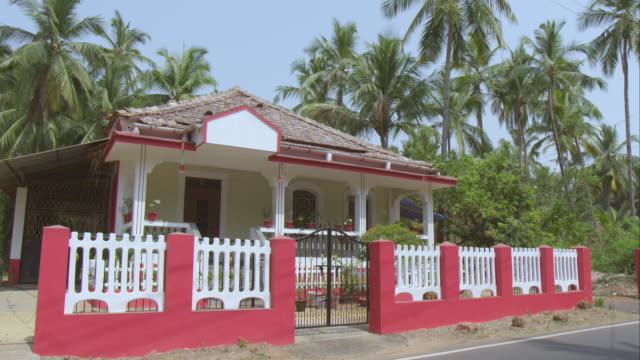 portuguese style house in goa - portuguese culture stock videos & royalty-free footage