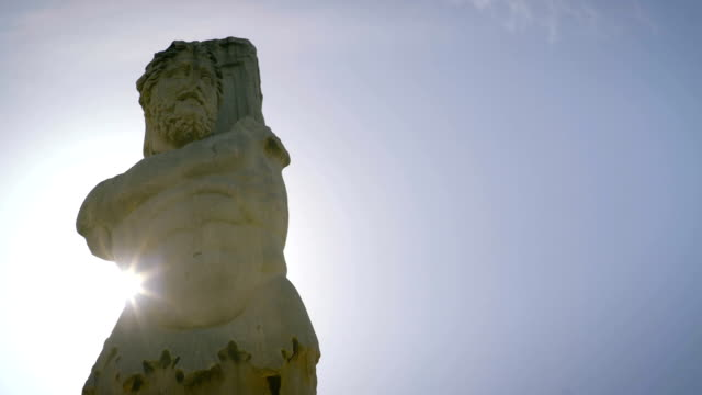 poseidon statue in greece - statue stock videos & royalty-free footage