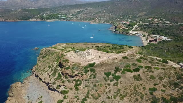 Poseidon temple Aerial View.