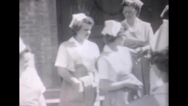 1955 posing nurses - 1950 stock videos & royalty-free footage