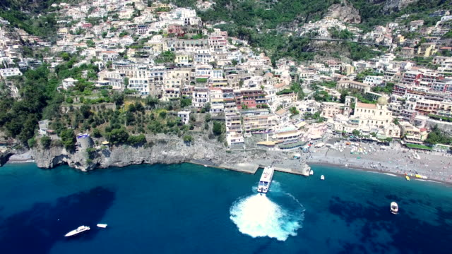 Positano, aerial view. Amalfi Coast, Italy