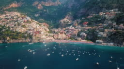 Positano, Amalfi Coast Grand Aerial Video