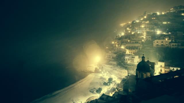 Positano with snow