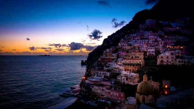 Positano's Sunset on the Amalfi Coast