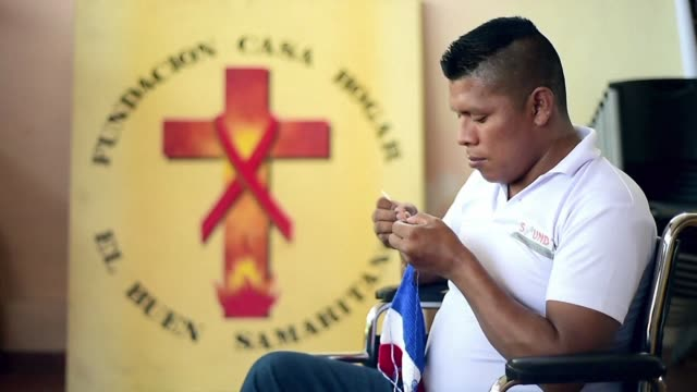 positive panamanians living at el buen samaritano hope that a visit by pope francis will help to end discrimination against people with the illness - retrovirus video stock e b–roll