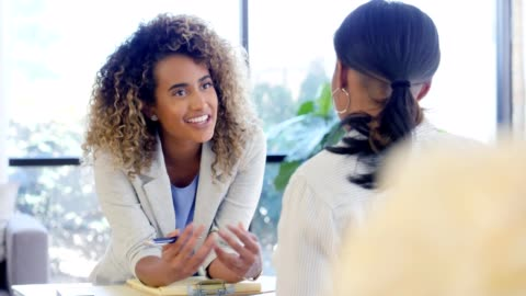 positive therapist encourages female client - business person stock videos & royalty-free footage