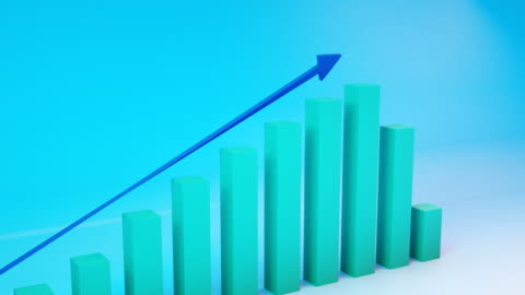 positive trend chart - growth stock videos & royalty-free footage