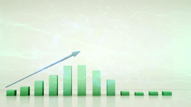 vídeos de stock e filmes b-roll de positive trend chart - representação gráfica