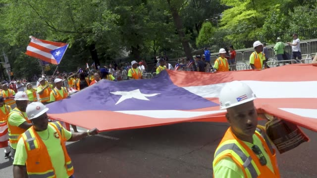 positive workforce inc the annual puerto rican day parade via 5th avenue in manhattan new york city usa - puerto rican ethnicity stock videos & royalty-free footage