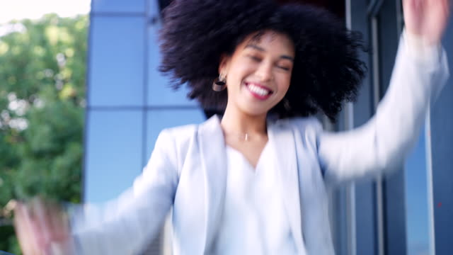 positivity and confidence goes a long way in business - brown hair stock videos & royalty-free footage