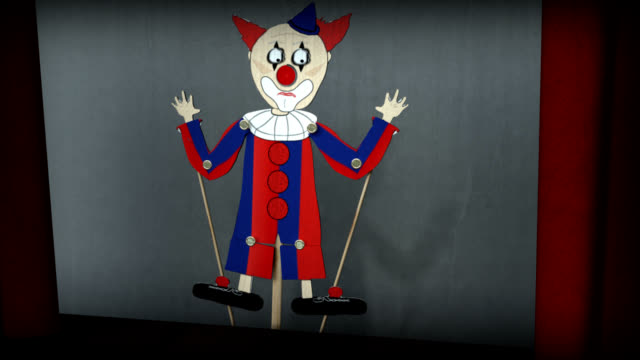 possessed clown stick puppet show - puppet stock videos & royalty-free footage