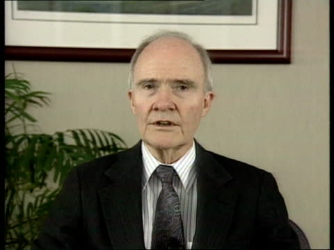 possible bombing attacks on serb supply lines; usa: washington cms brent scowcroft , 1989-93) intvwd sof - there is no doubt that attacks would make... - no doubt band stock videos & royalty-free footage