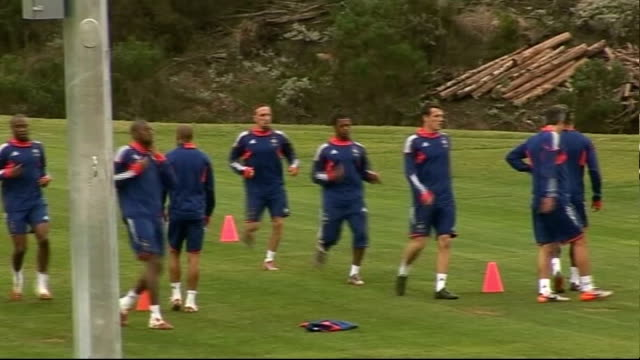 possible further boycotts in france squad south africa knysna ext various shots of french national team training with fitness coach robert duverne... - 2010 stock videos & royalty-free footage