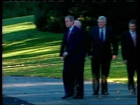 possible link to osama bin laden pool washington ext president george w bush shaking hands with conmgressional leaders including vicepresident dick... - reuters stock videos & royalty-free footage